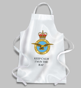 RAF Royal Air Force BBQ Apron KEEP CALM