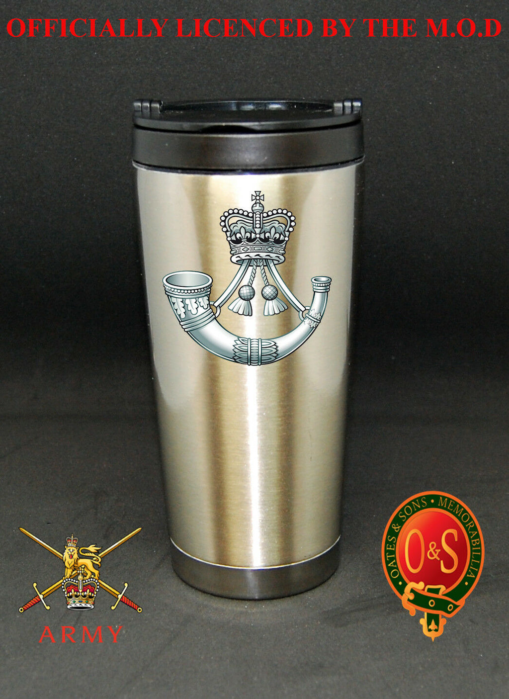 The Rifles 16 oz Stainless Steel Travel Mug