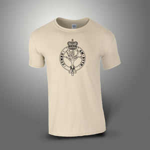 The Welsh Guards T-Shirt 100% Cotton Desert Sand