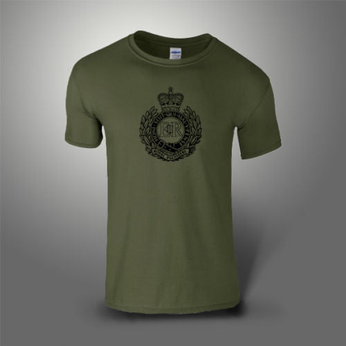 Royal Engineers T-Shirt 100% Cotton Military Green