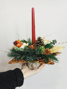 Christmas star with a candle