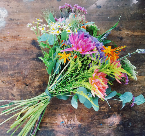 Autumn hand-tied bouquet workshop