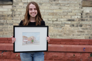 Aldea's Elly Bollweg to have water color displayed in upcoming art show