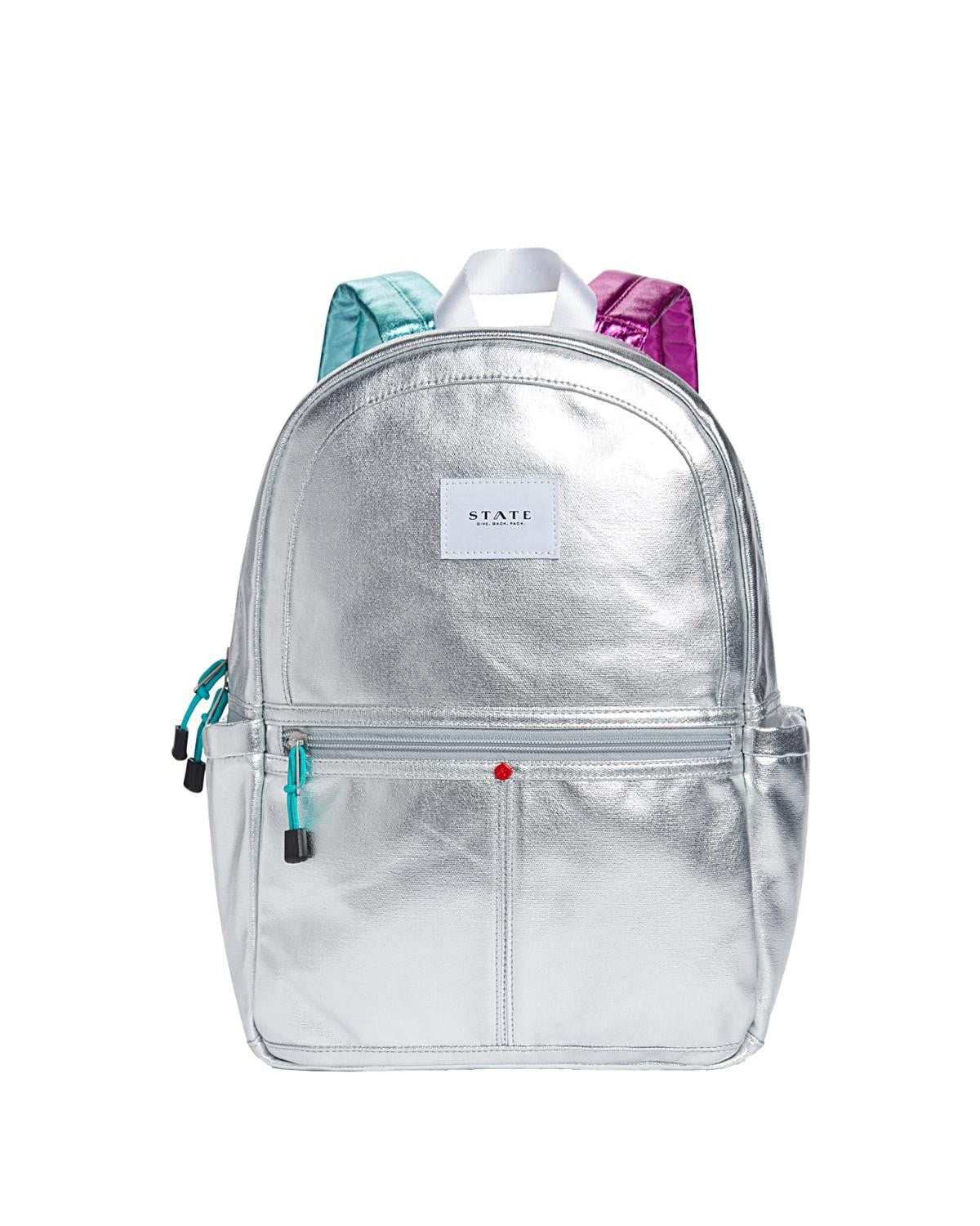 State Bags Kane Backpack in Silver Multi