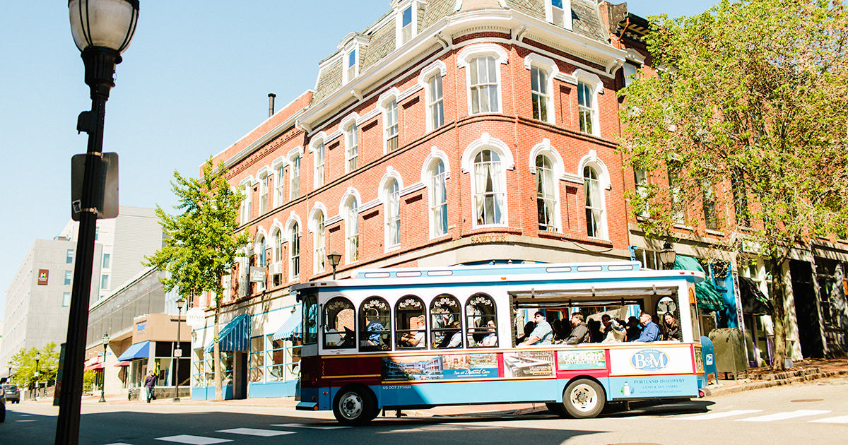 Downtown Portland Maine Trolly