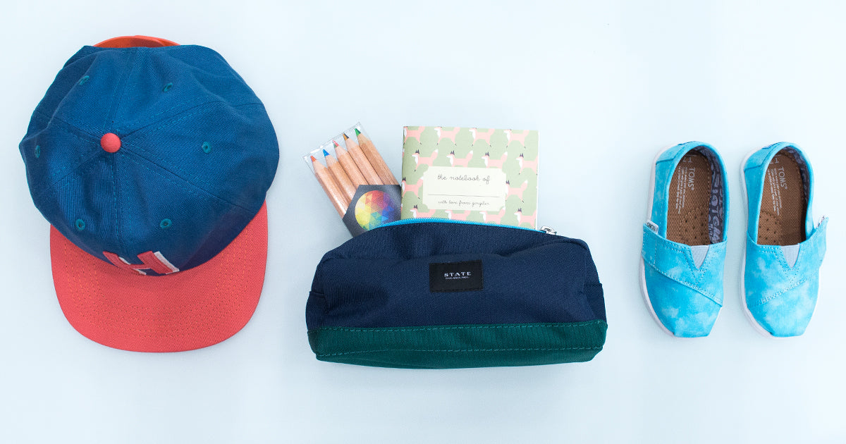 State Bags, Herschel hat, Toms shoes