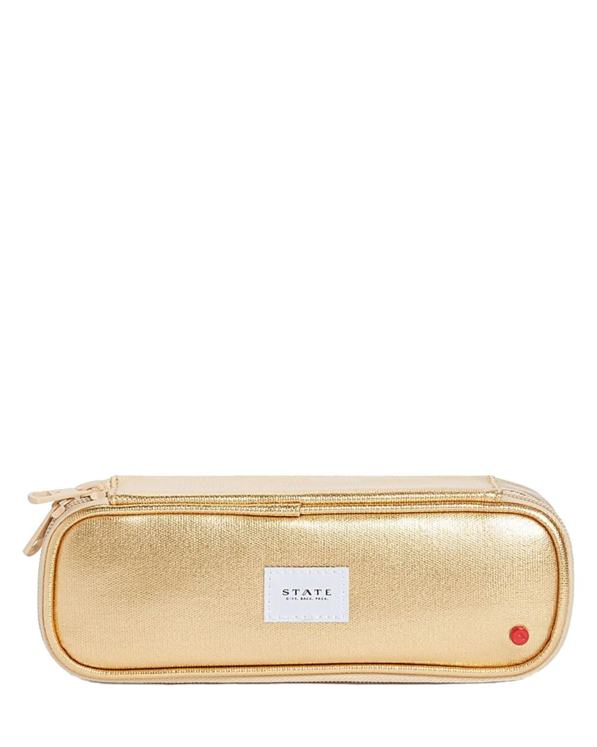 State Bags Court Pencil Case in Gold