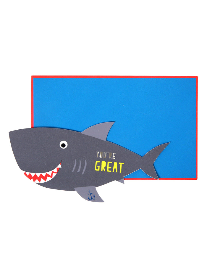 shark valentines card set