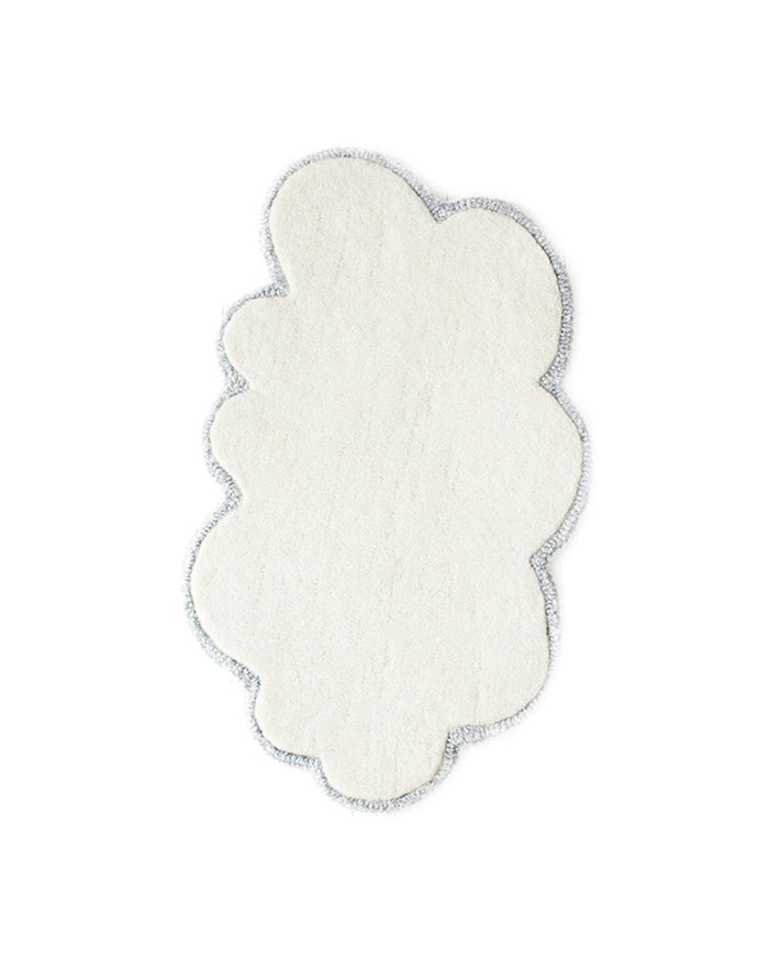 Mini 'Doll' Size Silver Lining Cloud Rug in Vanilla