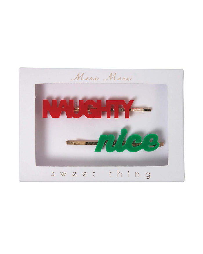 Naughty + Nice Hair Pins