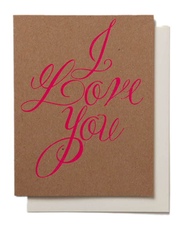Neon I Love You Card