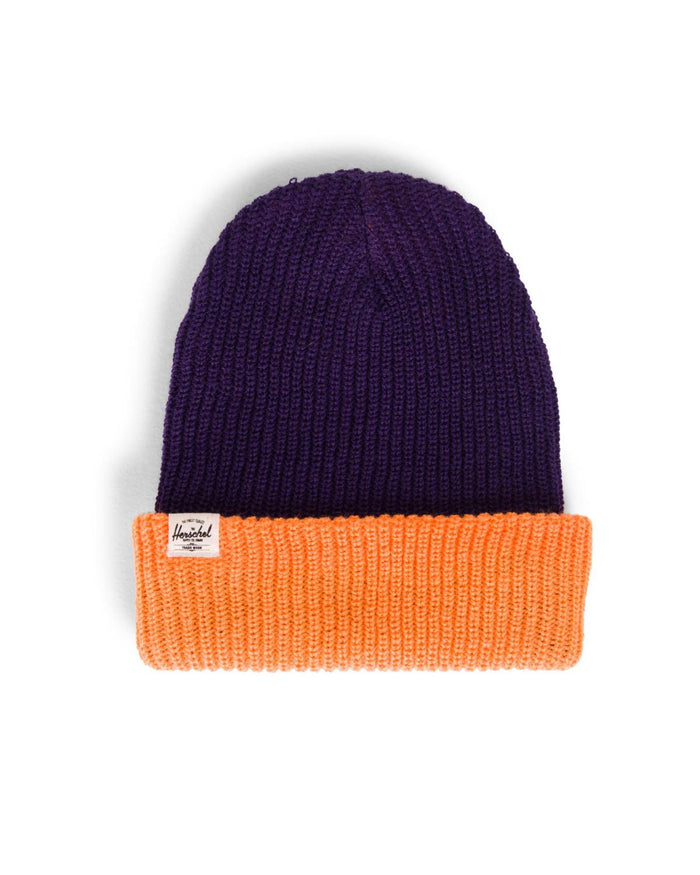 Quartz Beanie in Purple + Tangerine
