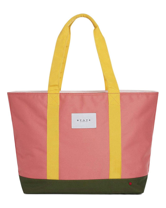 Snyder Tote Bag in Coral Multi