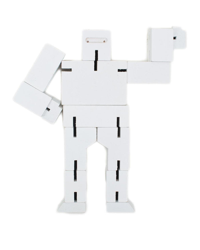 Little areaware play Cubebot Small in White