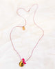 Little atsuyo et akiko accessories golden locket necklace in pink