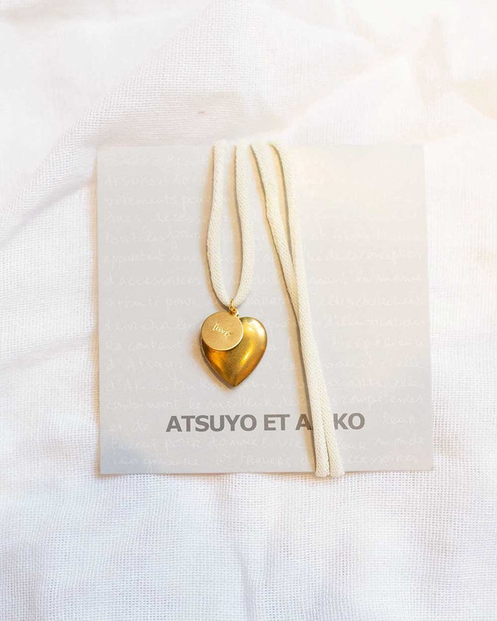 Little atsuyo et akiko accessories heart love necklace in cream