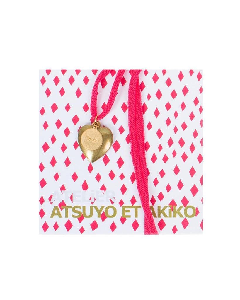Little atsuyo et akiko accessories Heart Love Necklace in Hot Pink