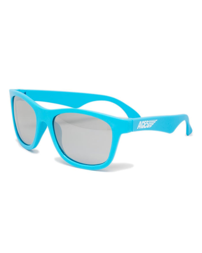 Little babiators accessories Aces Sunglasses in Blue w/ Silver-Mirrored Lenses