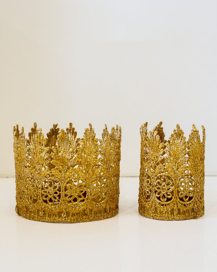 Little bailey + ava accessories large gold top hat crown