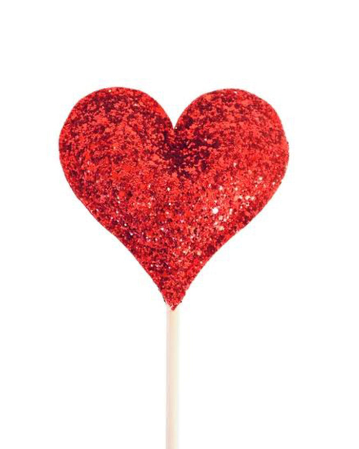 Little bailey + ava play red glitter sparkle heart wand