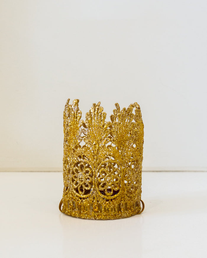 Little bailey + ava accessories small gold top hat crown