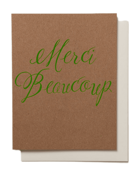 Little banquet atelier + workshop paper+party Merci Beaucoup Card