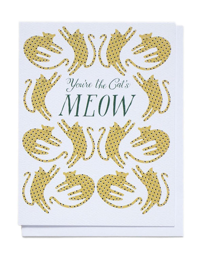 Little banquet atelier + workshop paper+party You're the Cat's Meow Card
