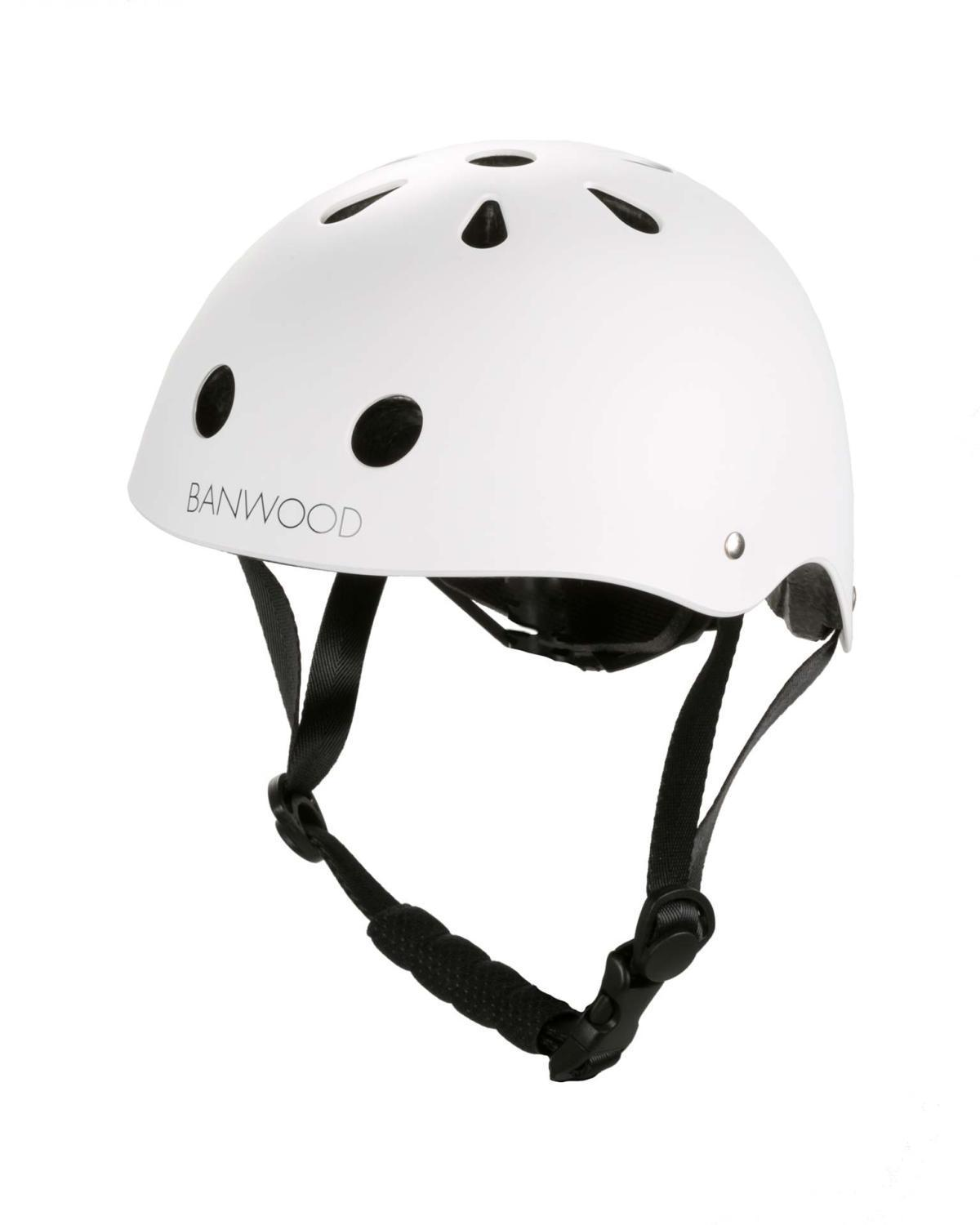 Little banwood play classic helmet in matte white