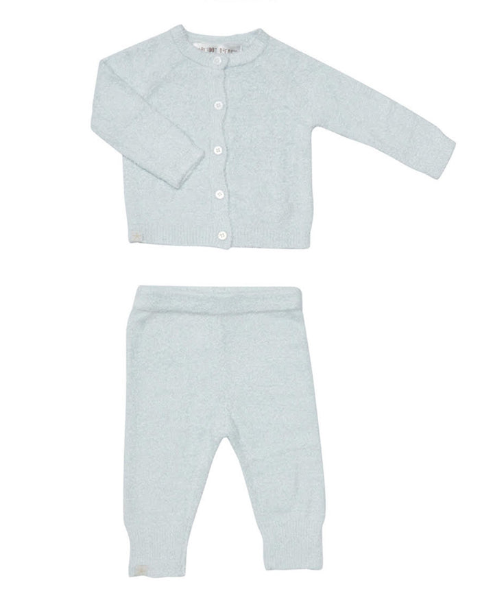 Little barefoot dreams baby boy xs cozy chic light classic infant set in blue