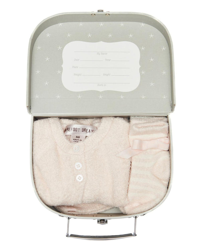 Little barefoot dreams layette cozy chic light heirloom newborn set in pink