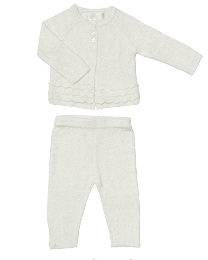 Little barefoot dreams baby girl xs cozy chic lite heirloom set in pearl
