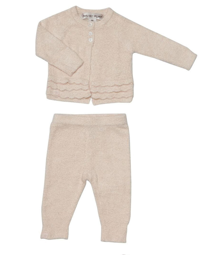 Little barefoot dreams baby girl xs cozy chic lite heirloom set in pink