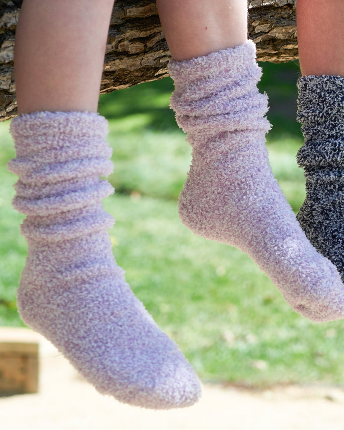 Little barefoot dreams accessories cozy chic youth heathered socks