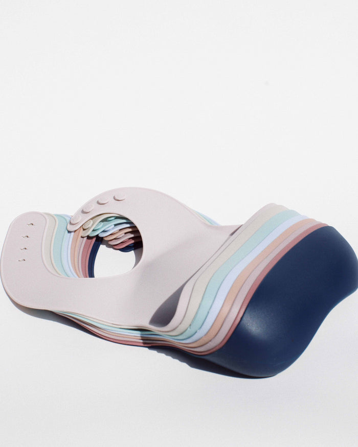 Little bibito baby accessories modern silicone bib in ocean
