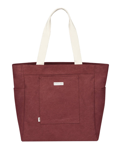 Little birdling bags accessories everyday tote in maroon