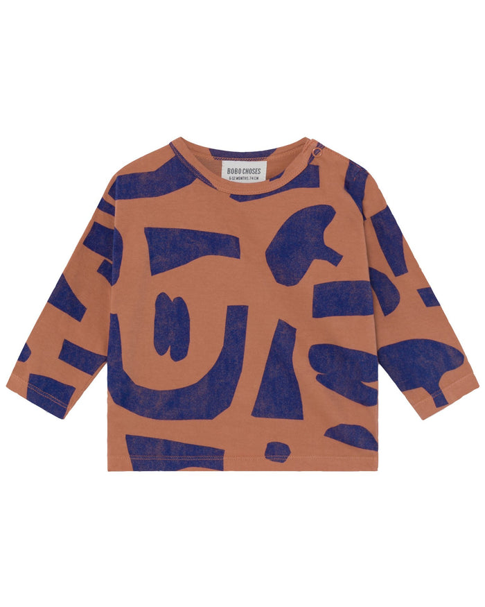 Little bobo choses baby girl abstract long sleeve baby t-shirt