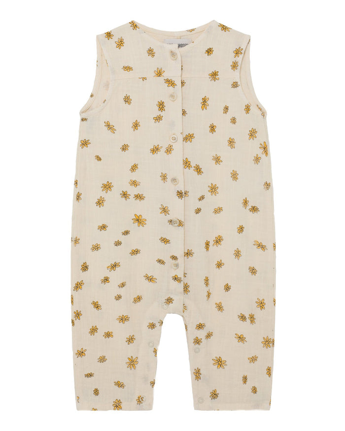 Little bobo choses baby girl all over daisy woven baby overall