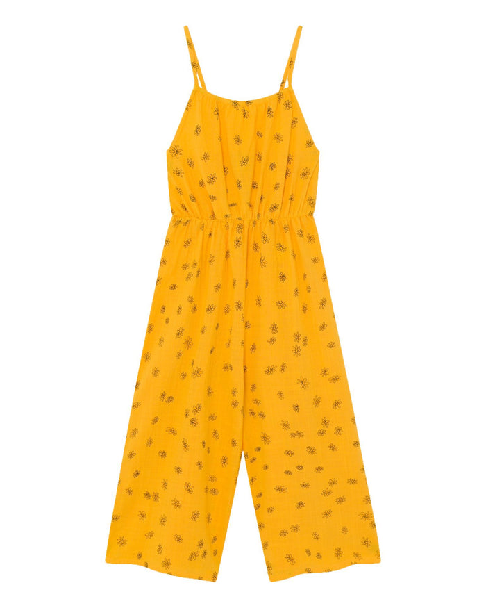 Little bobo choses girl all over daisy woven overall