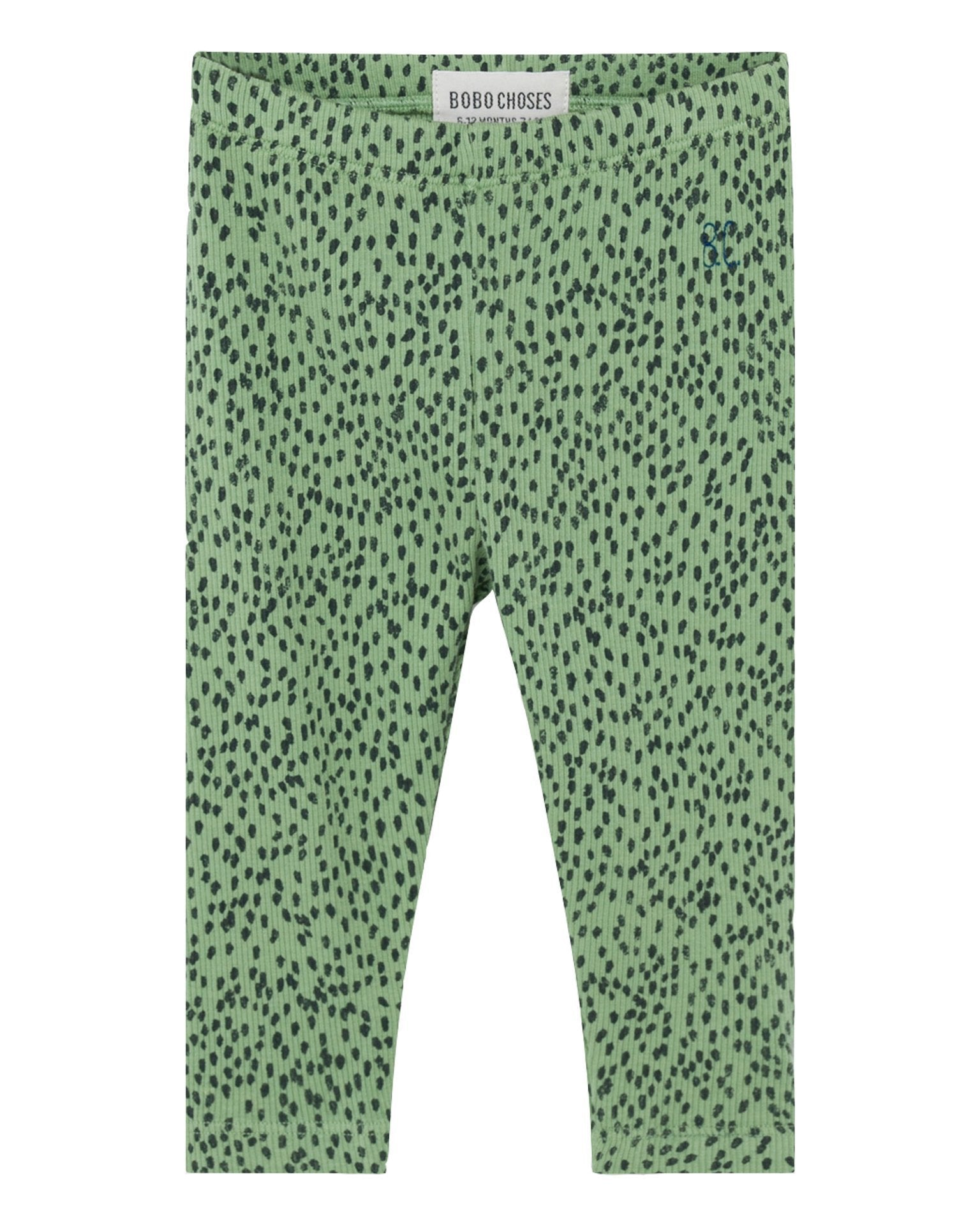 Little bobo choses baby boy all over leopard green baby leggings
