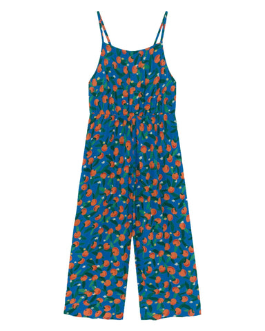 Little bobo choses girl all over oranges woven overall
