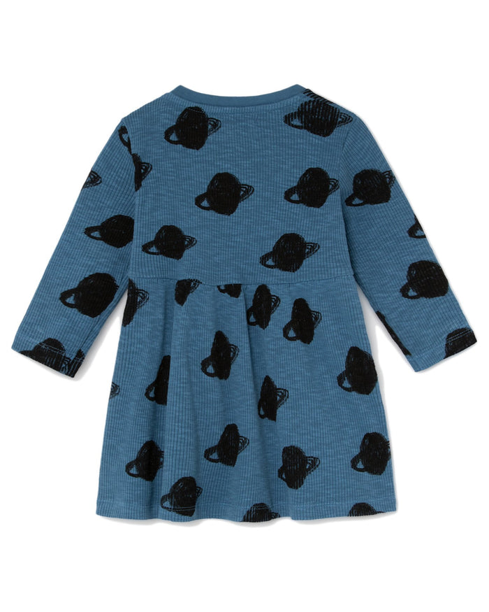 Little bobo choses baby girl all over small saturn baby jersey dress