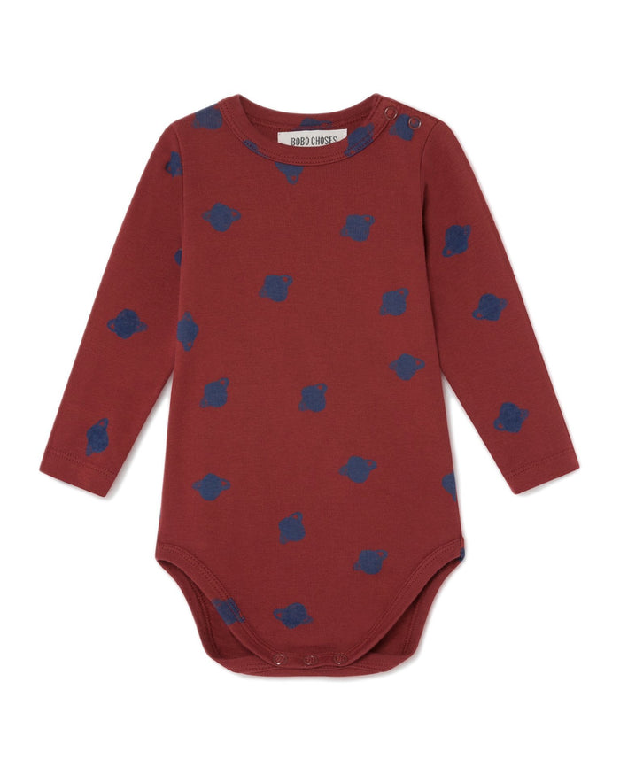 Little bobo choses baby boy all over small saturn baby long sleeve body