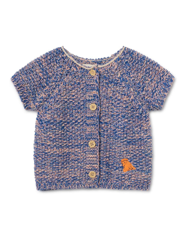 Little bobo choses baby girl 3-6 b.c. short sleeve baby cardigan