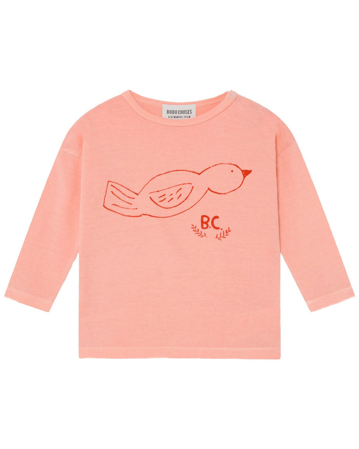 Little bobo choses baby girl bird long sleeve baby t-shirt