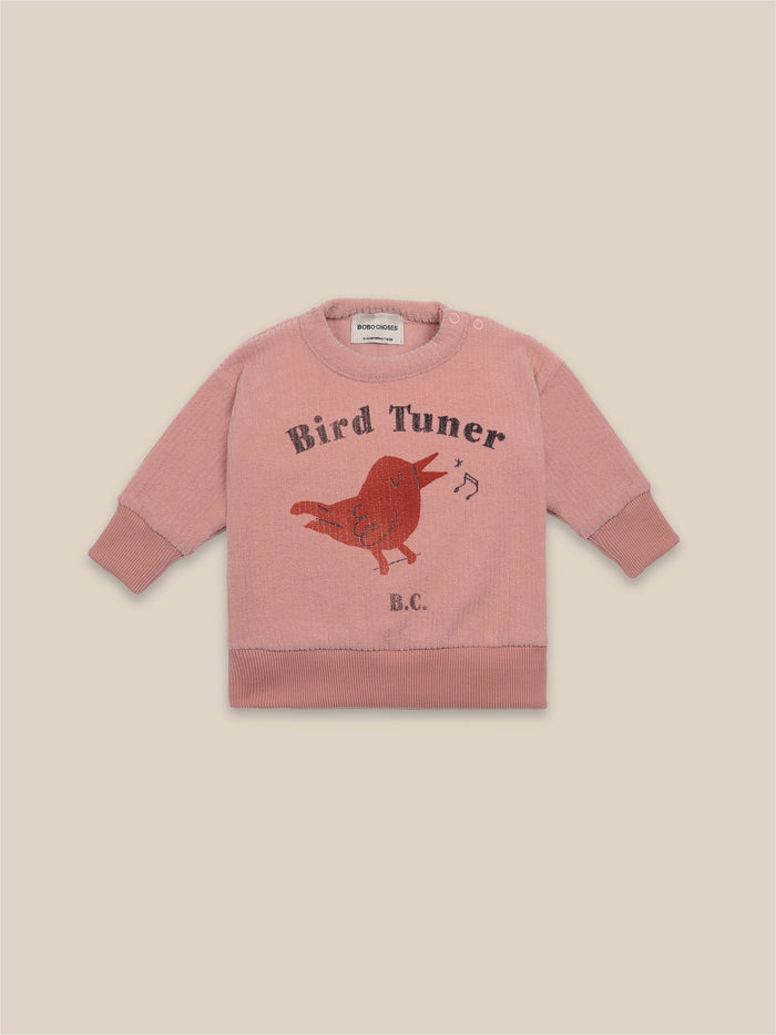 Little bobo choses baby Bird Tuner Terry Towel Sweatshirt
