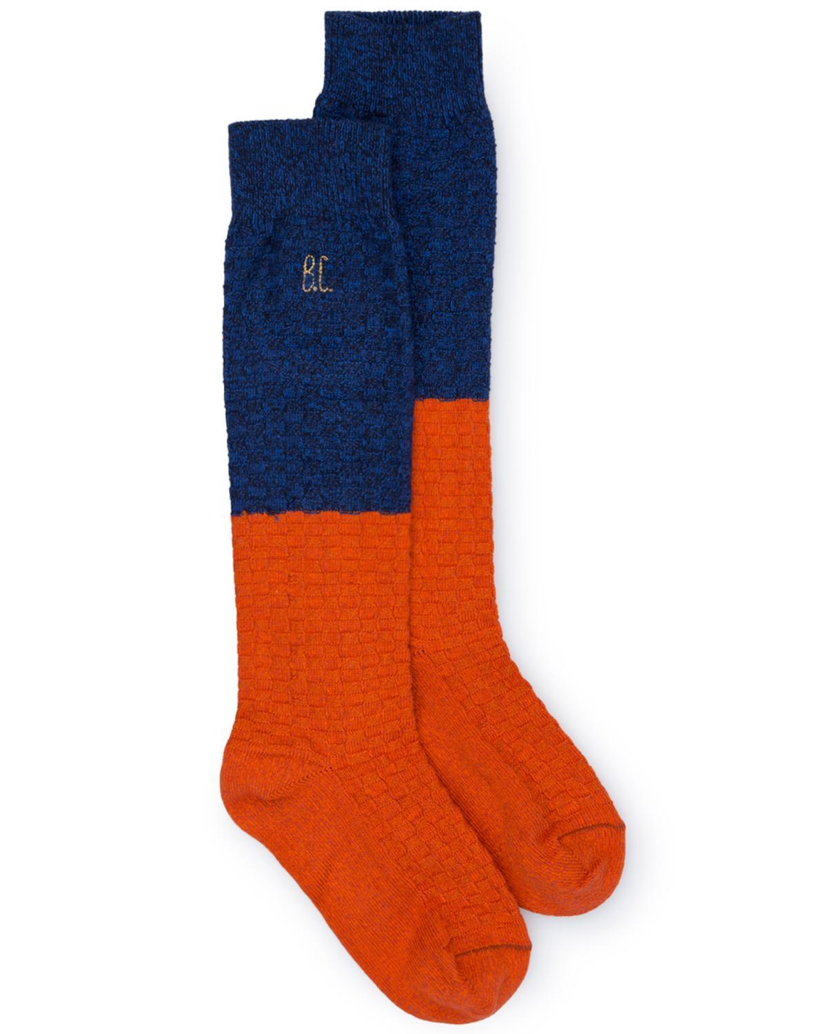 Little bobo choses accessories 16/18 blue + red long socks