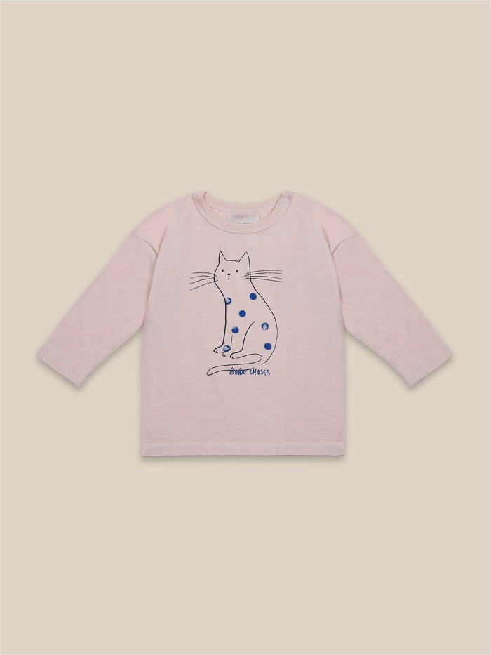 Little bobo choses baby Cat Long Sleeve Baby T-Shirt
