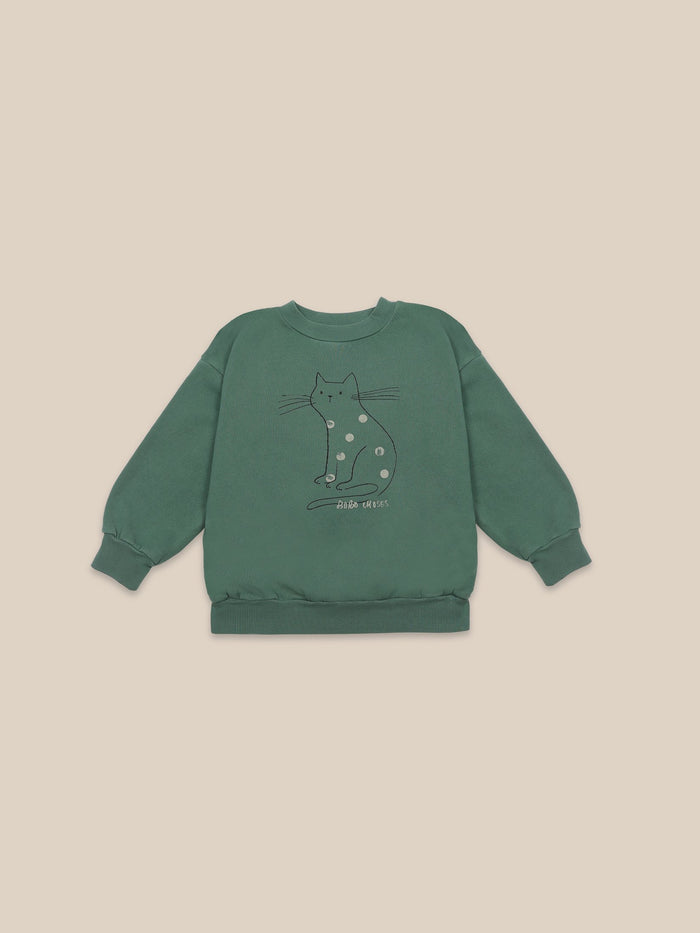 Little bobo choses girl Cat Sweatshirt