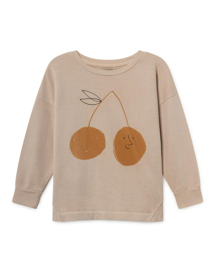Little bobo choses girl 2-3 cherry round neck sweatshirt