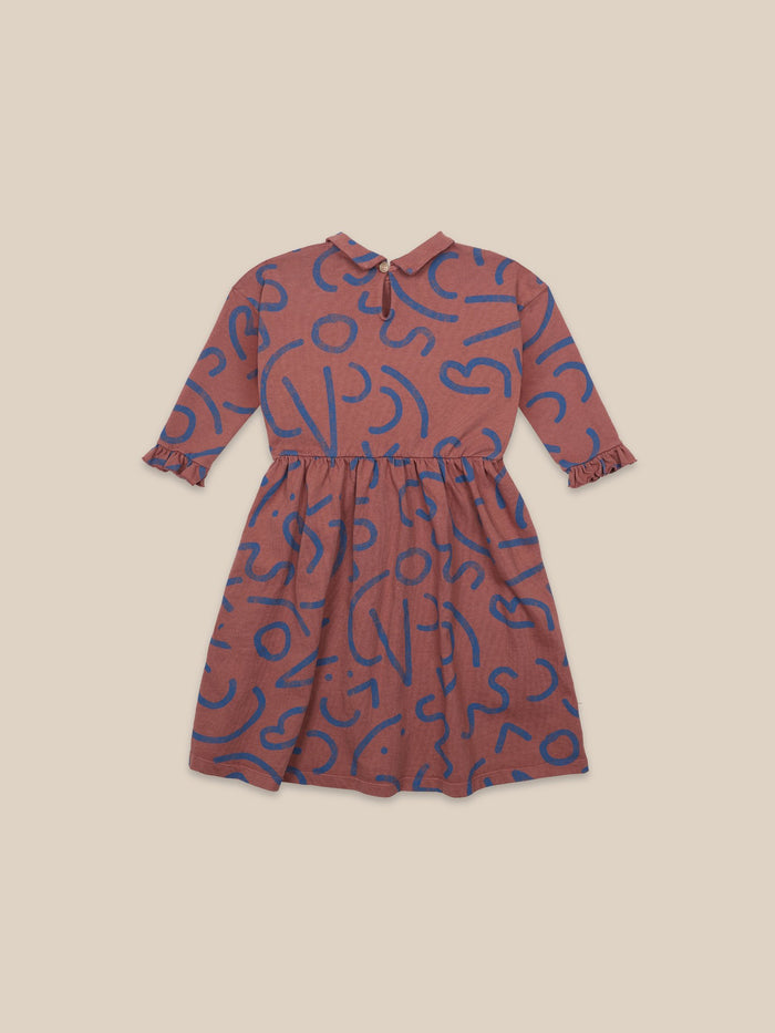 Little bobo choses girl Curved Lines All Over Dress